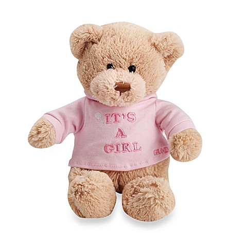 GUND It's a Girl Plush 12-Inch Teddy Bear