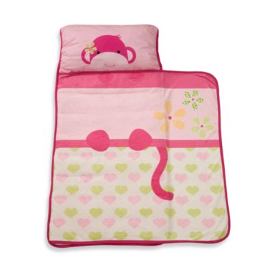 Lambs & Ivy® Monkey Nap Mat in Pink