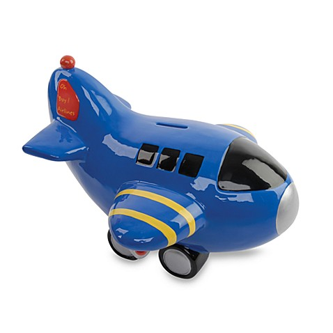 Piggy Banks Gt Mud Pie 174 Prince Airplane Bank From Buy Buy Baby
