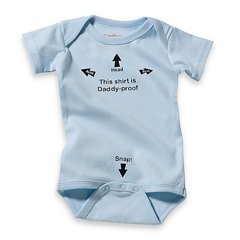 "Sara Kety® Size 12 Months ""Daddy-Proof"" Bodysuit in Blue"