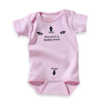 "Sara Kety® ""Daddy-Proof"" Size 12 Months Bodysuit in Pink"