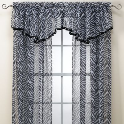 Xavier Black and White Ascot Valance