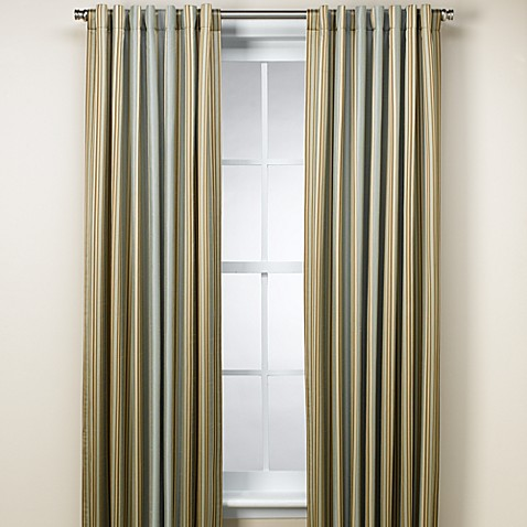 Malibu 108-Inch Stripe Window Panel in Blue