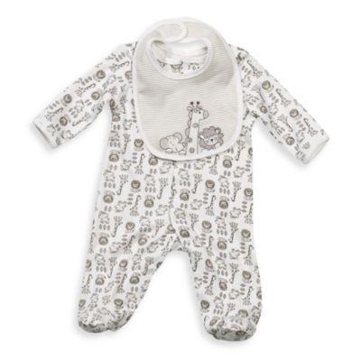 Little Me® Newborn Safari Footie with Bib