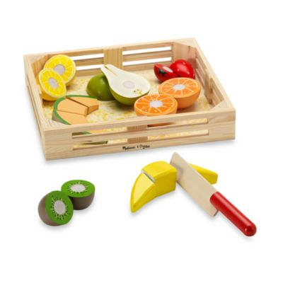 Melissa & Doug® Wooden Fruit Crate Cutting