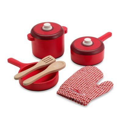 Melissa & Doug® Wooden Pots & Pans Set