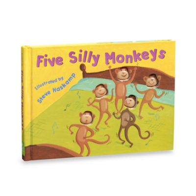 Five Silly Monkeys Die Cut Disappearing Character Board Book
