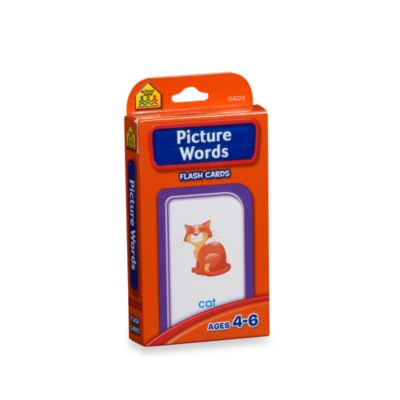 School Zone Publishing Company® Picture Words Flash Cards
