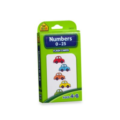 School Zone Publishing Company® Numbers 0-25 Flash Cards