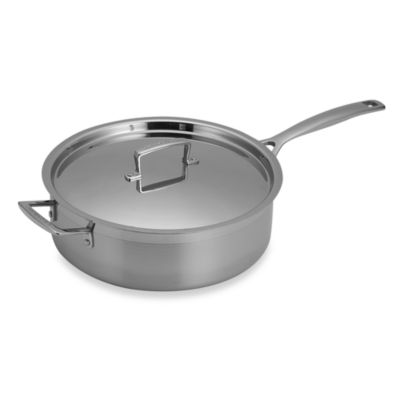 Le Creuset® Stainless Steel 6-Quart Covered Saute Pan
