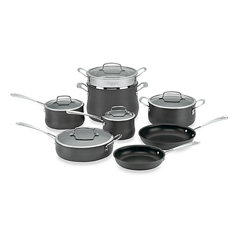 Cuisinart® Contour™ Hard Anodized 13-Piece Cookware Set