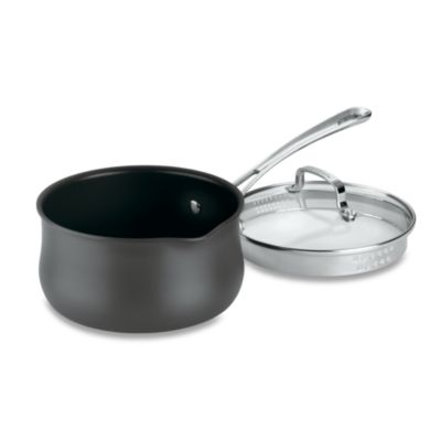 Cuisinart® Contour Hard Anodized 2-Quart Saucepan with Cover