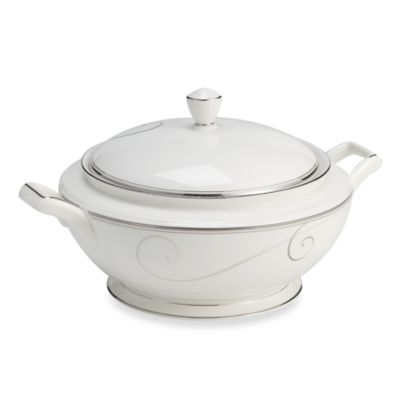 Noritake® Platinum Wave Covered Vegetable Bowl