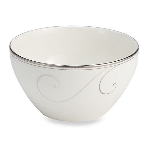 Noritake® Platinum Wave Rice Bowl