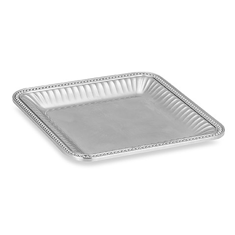Wilton Armetale® Flutes and Pearls 12-Inch Square Tray