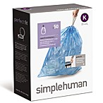 simplehuman® 50-Pack Code K Blue Recycling 38-Liter Can Liners
