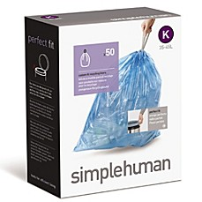 simplehuman® Code K 50-Pack 9-12-Gallon Custom Fit Recycling Liners