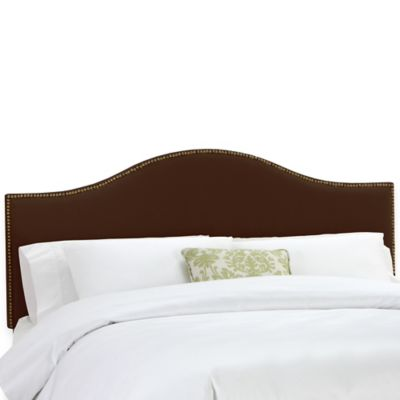 Skyline Furniture Tara California King Headboard in Chocolate