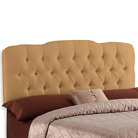 Skyline Tufted King Headboard in Khaki