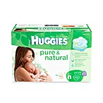 72-Count Huggies® Pure and Natural Size Newborn Diapers