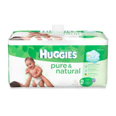 72-Count Huggies® Pure and Natural Size 2 Diapers
