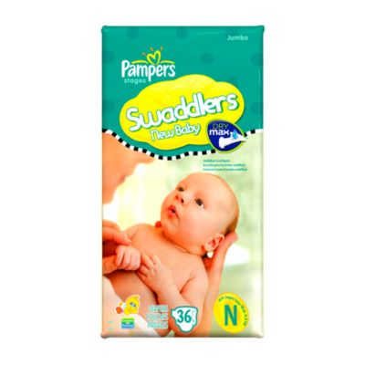 36-Count Pampers® Swaddlers Size Jumbo Newborn Diapers