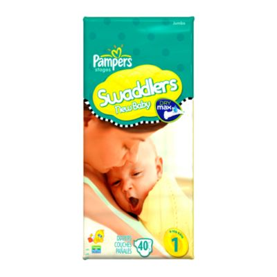 Pampers® Swaddlers Size 1 Jumbo 40-Count Diapers