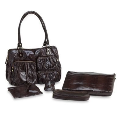 Aspen Satchel Tote in Brown