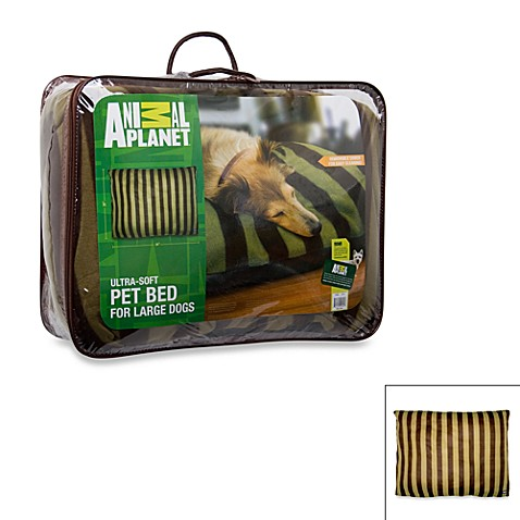 Animal Planet Large Pet Bed - Red/Tan