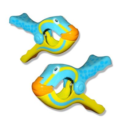 Fish Boca Towel Clips™ in Yellow/Blue (Set of 2)