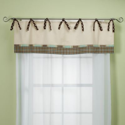 My Baby Sam Mad About Plaid Nursery Window Valance in Blue