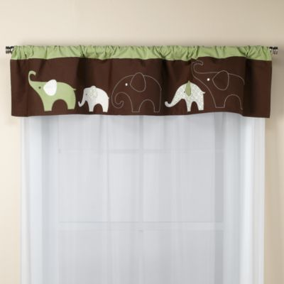 Carter's® Green Elephant Valance