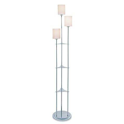 Vesta 3 Light Chrome Finish Floor Lamp