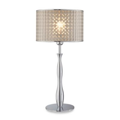 Optiska Chrome Finish Table Lamp