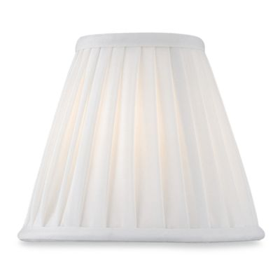 Empire Pleated Chandelier Shade in White