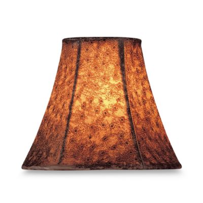 Faux Ostrich Jacquard Chandelier Shade in Brown