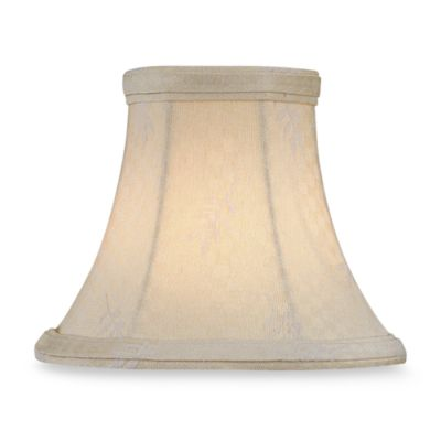 White Leaf Jacquard Modified Bell Chandelier Shade