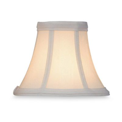 White Dupioni Silk Modified Bell Chandelier Shade