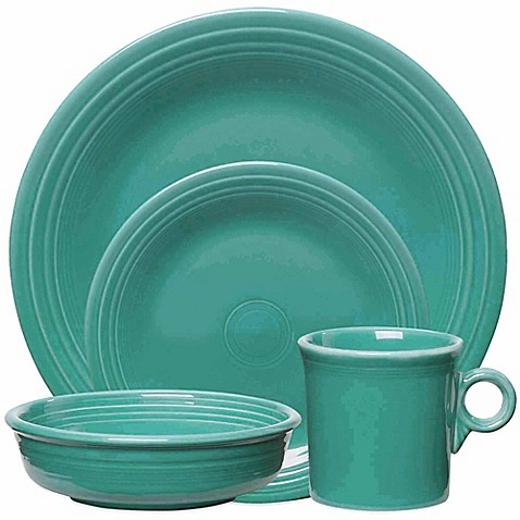 Fiesta 174 Dinnerware Collection In Turquoise