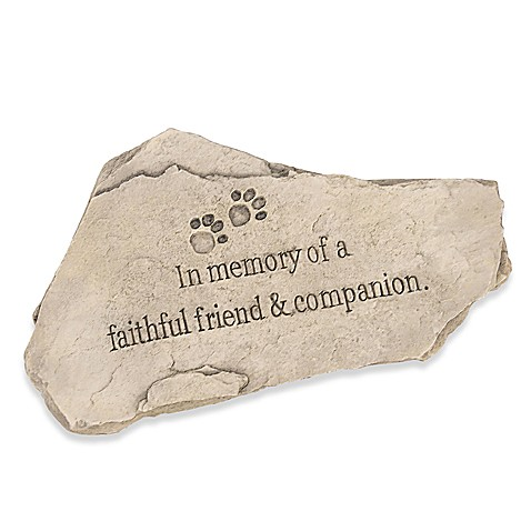 In Memory of a Faithful Friend & Companion Tiding Stone