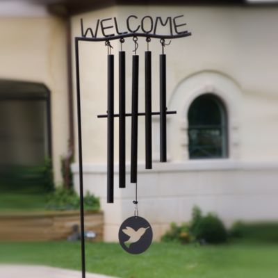 Welcome Wind Chimes with Stand