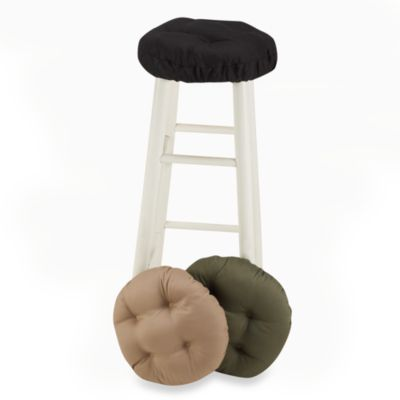 Klear Vu Twill Barstool Cover in Black
