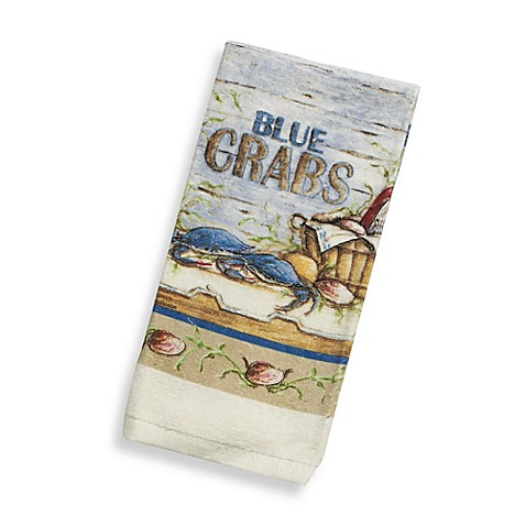 Blue Crabs Terry Kitchen Towel