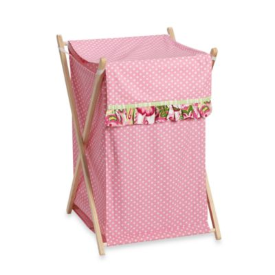 My Baby Sam Paisley Splash Hamper in Pink