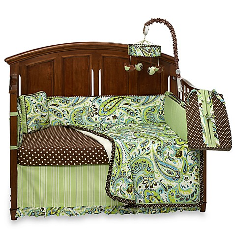 My Baby Sam Paisley Splash in Lime Crib Bedding and Accessories