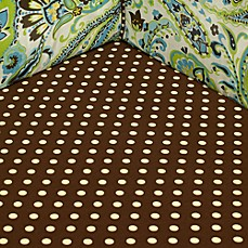 My Baby Sam Paisley Splash Crib Sheet in Lime