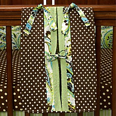 My Baby Sam Paisley Splash Diaper Stacker in Lime