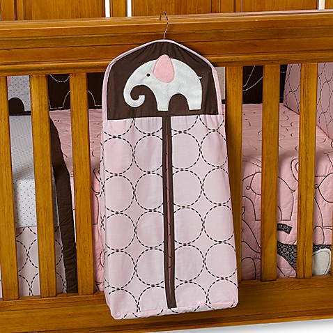 Carter's® Pink Elephant Diaper Stacker