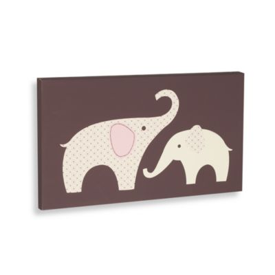 Carter's® Pink Elephant Canvas Wall Art