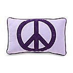 Peace Oblong Toss Pillow